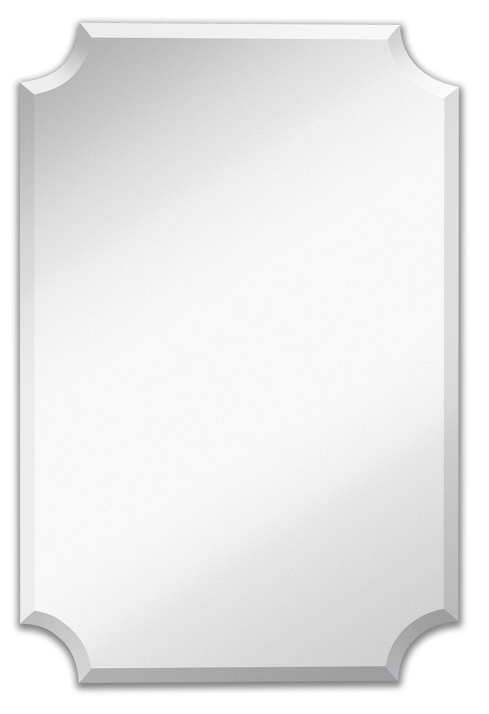 Amazon Com Large Beveled Scalloped Edge Rectangular Wall Mirror 1 Inch Bevel Curved Corners Rectangle Mirrored G Mirror Wall Rectangle Mirror Mirrored Glass