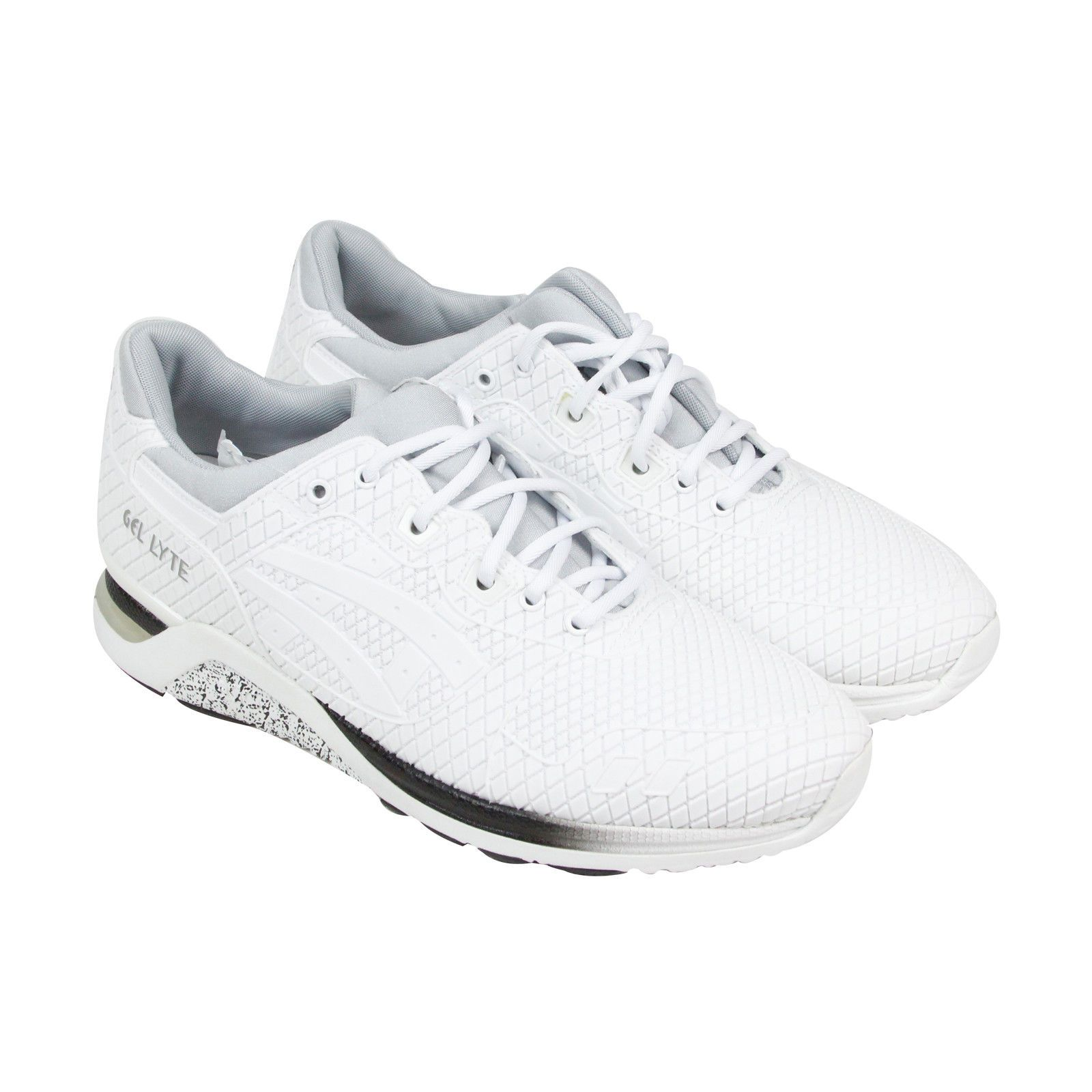 6890a2f55635d Asics Gel-Lyte Evo Mens White Mesh Sneakers Lace Up Shoes