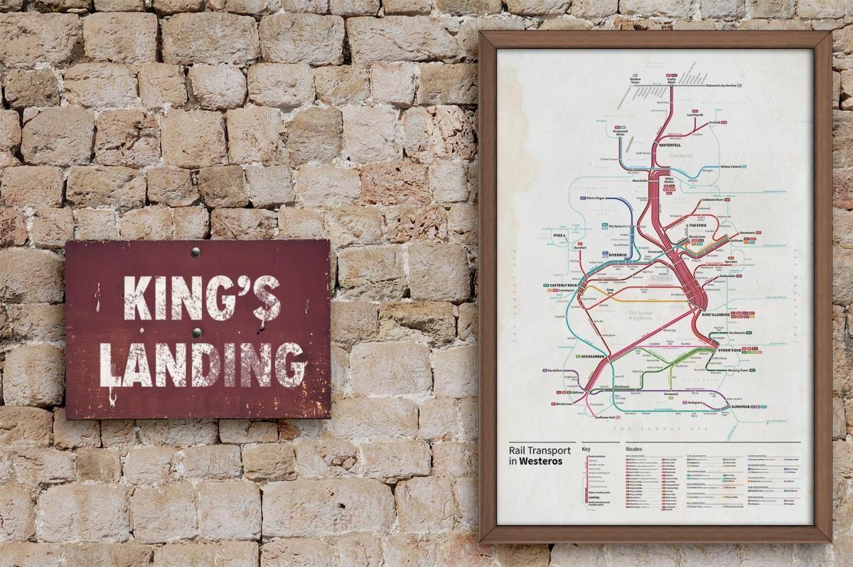 El plano de metro de Juego de Tronos | Duendemad.com