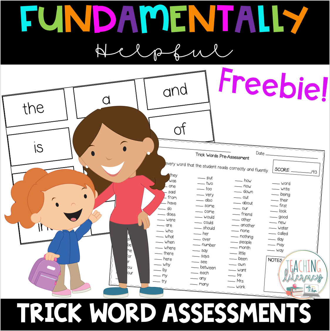 Trick Words Level 1 Pre And Post Assessments Free