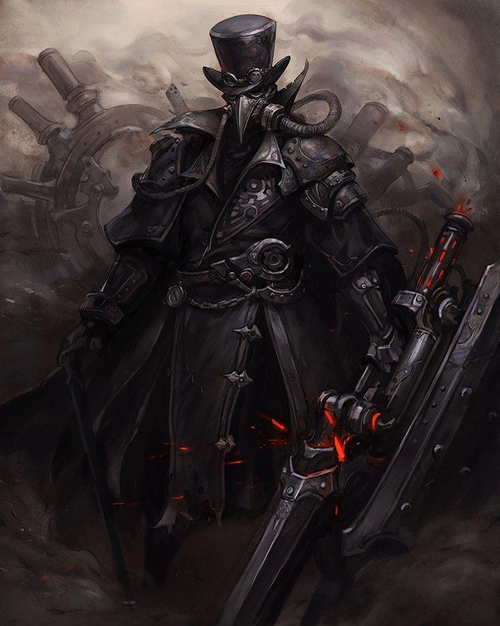 character plague doctor gaming inspiration steampunk