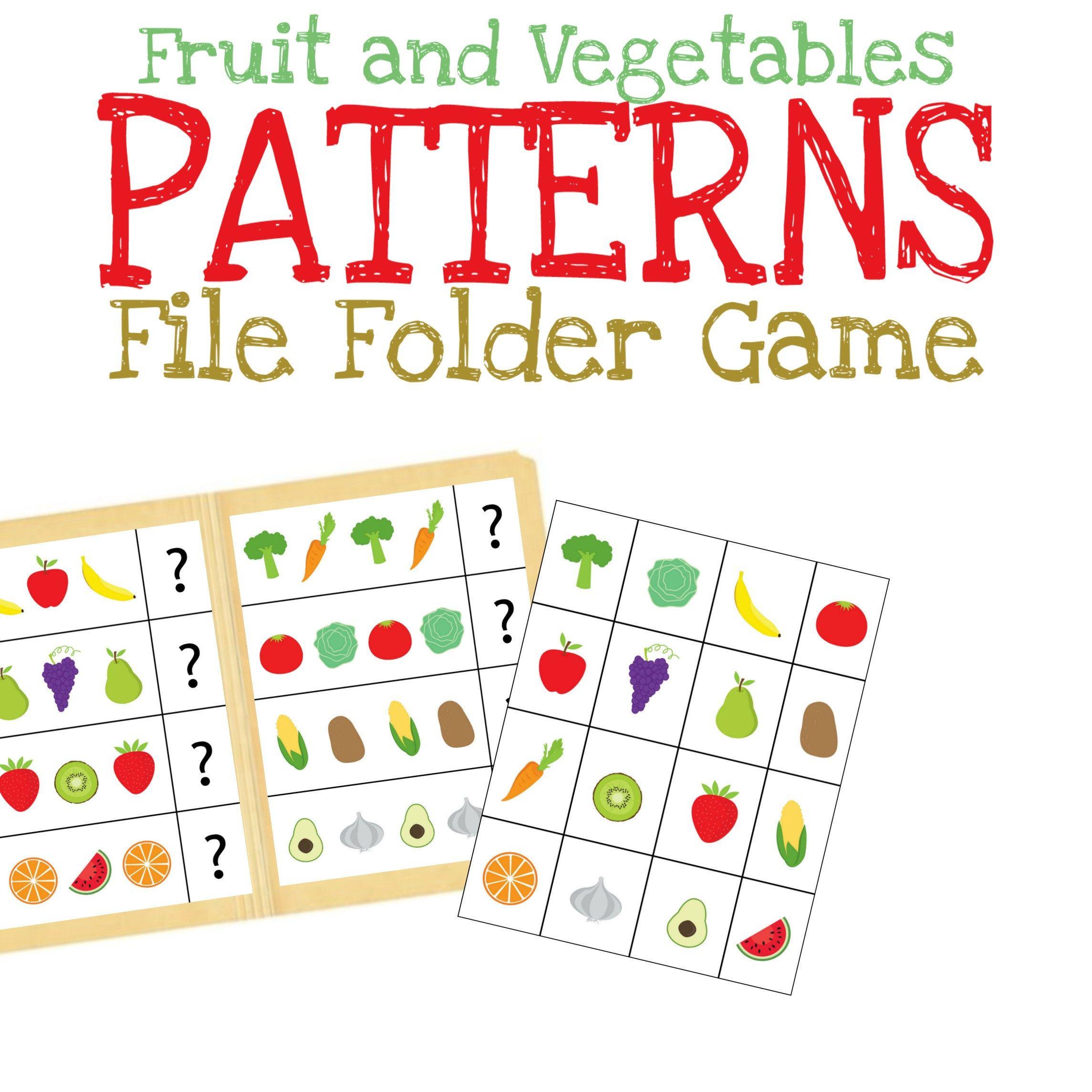Patterns File Folder Game Printable Learning Worksheet