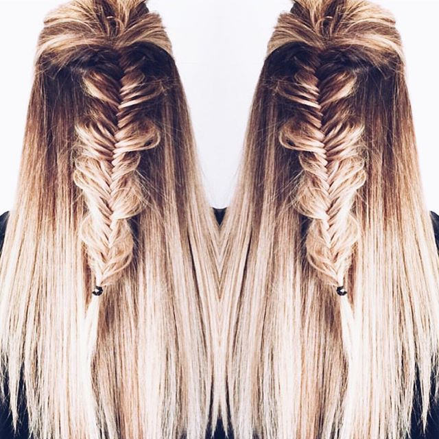 Double the fishtail, double the fun. #T3Inspo by @clarecrawley