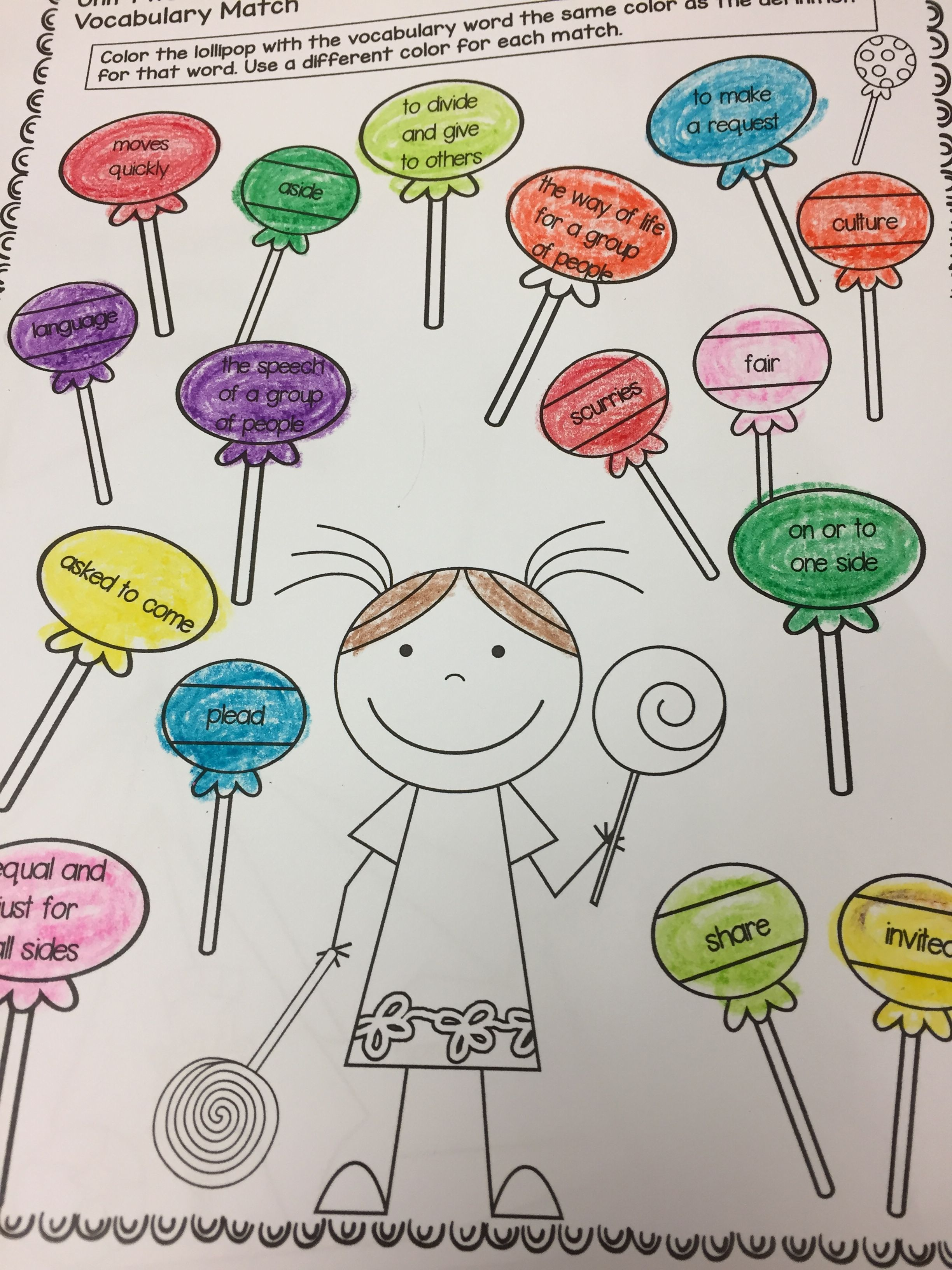 Vocabulary Pages For Each Week Of Wonders Grade 2