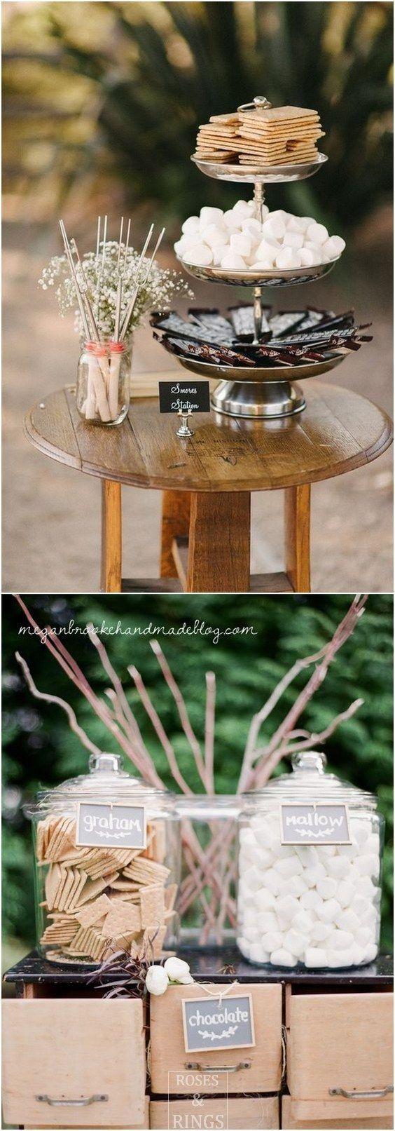 rustic wedding dessert ideas - rustic smores wedding bar ...
