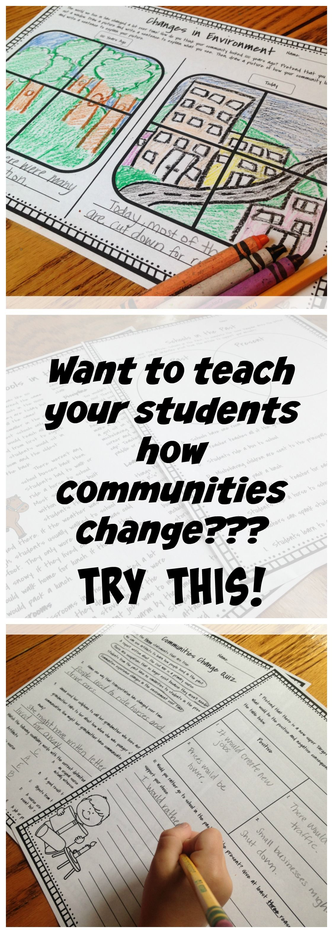 Types Of Communities Freebie Tpt Social Stu S Lessons