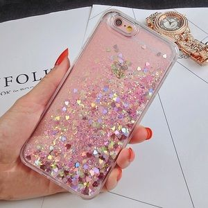 Coque For IPhone 7 Plus Glitter Rhinestone Phone Case On For Funda