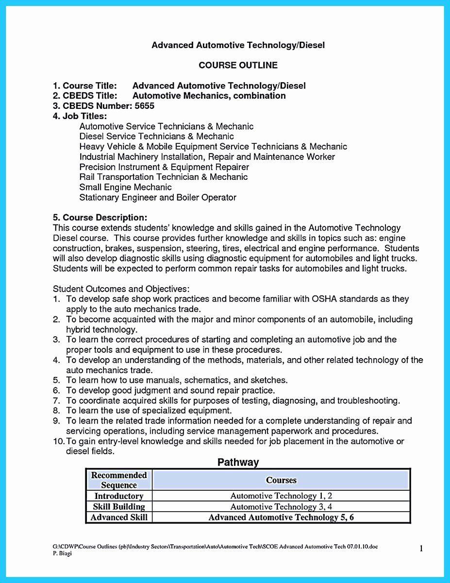 Mechanic Job Description Resume Luxury Writing Your Great Automotive Technician Resume Mechanic Jobs Maintenance Jobs Nursing Resume Template