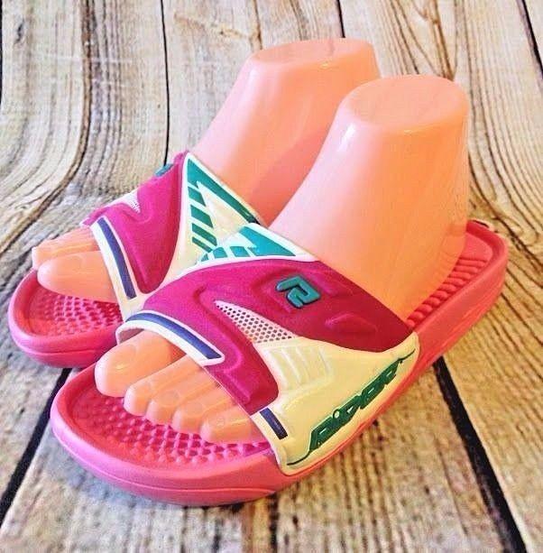 96bc37079fef GRENDENE RIDER Pink Slide Sandals Size 6   35 Rubber Pool Beach Made in  Brazil  Grendene  Slides  Beach