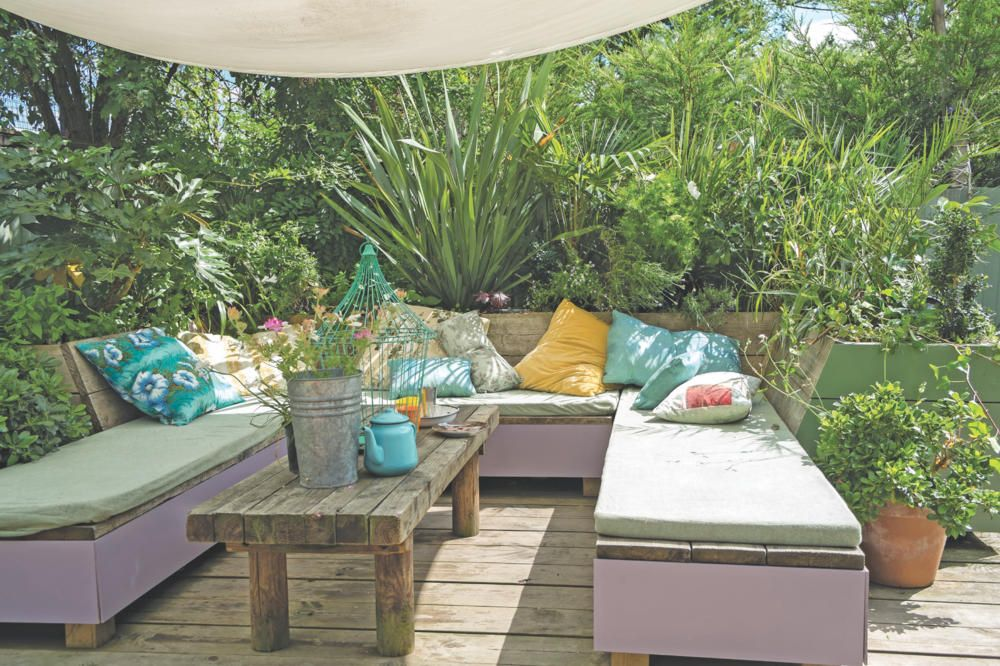 Mediterrane Garten-Lounge, Foto Farrow \ Ball Rooftop garden - garten gestalten mediterran
