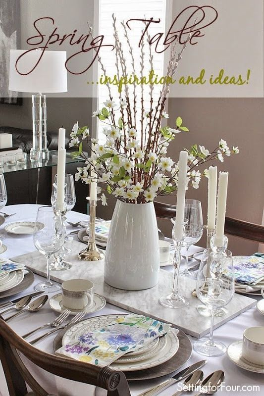 Spring Table Decor Ideas Spring Table Decor Dining Room Centerpiece