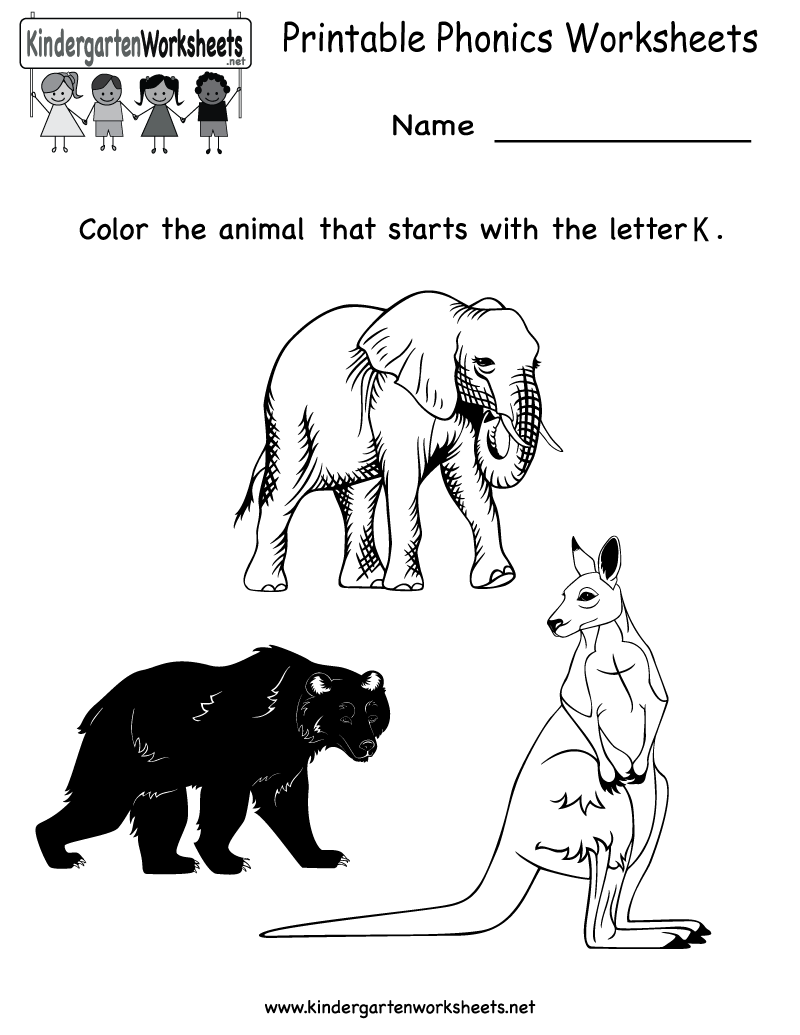 Kindergarten Printable Phonics Worksheets | Worksheets (Legacy ...