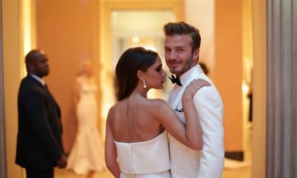 """So proud to share such a great evening with my wonderful husband x vb #MetGala #CharlesJames,"" Victoria tweeted about their romantic night out at the Met Costume Institute Gala in New York on May 6, 2014. Both decked out in white, the couple was clearly ready for their close-up.RELATED: Long-lasting couples"