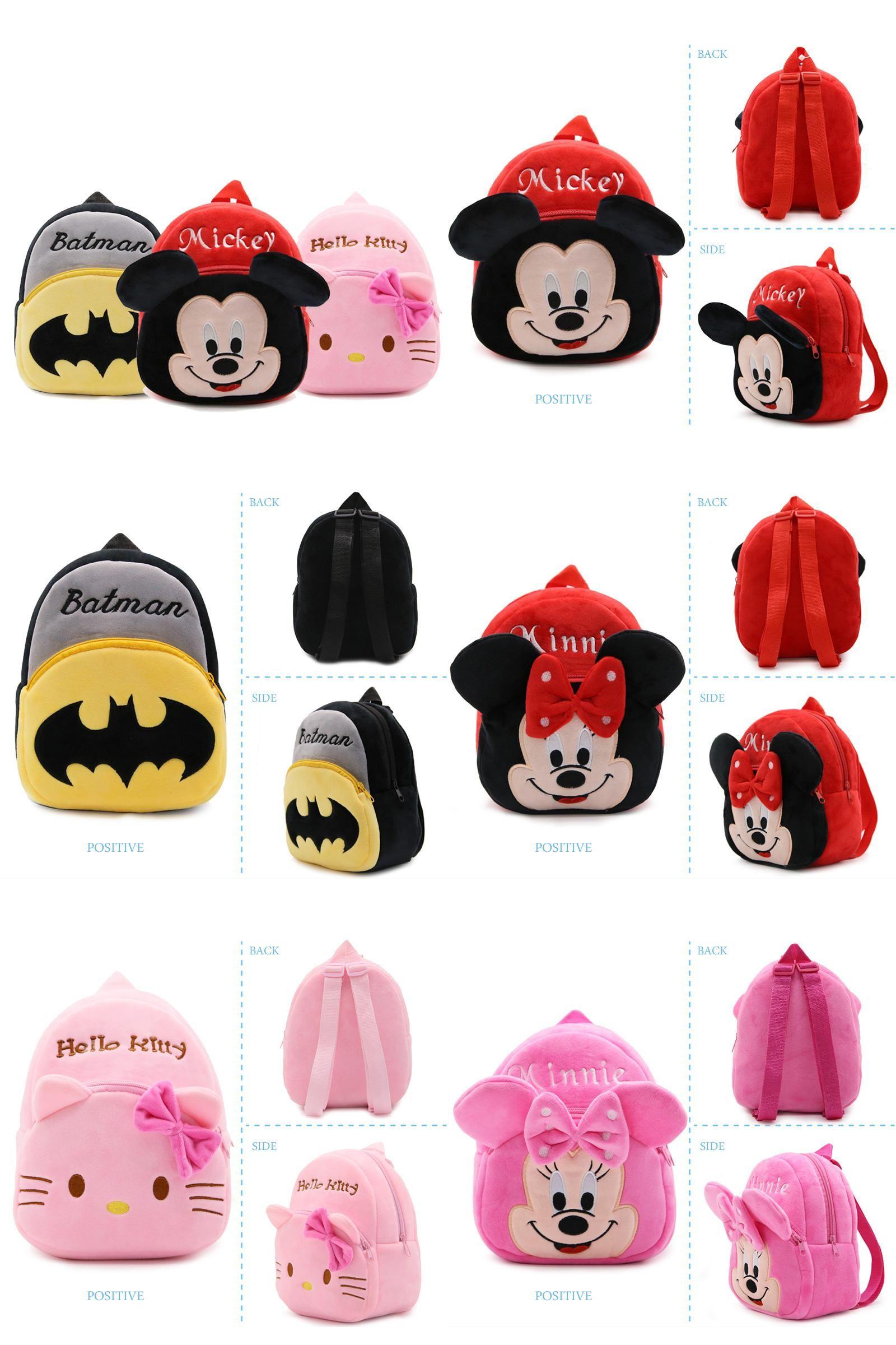 47f242a523  Visit to Buy  Cartoon Plush Kids School Bags Children Girl Mini School  Backpacks Baby