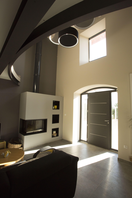 porte d 39 entr e mixte cotim 11 de zilten avec imposte cintr e et fixes vitr s en ad quation avec. Black Bedroom Furniture Sets. Home Design Ideas