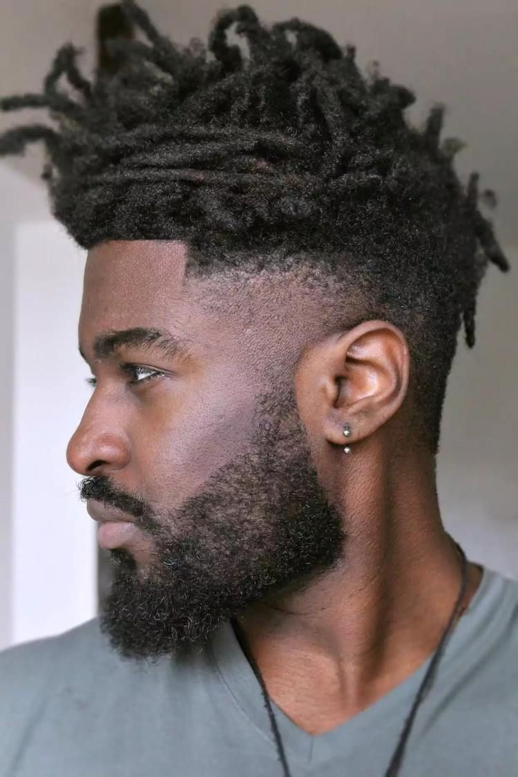 Coiffure homme noir degrade dreadlocks barbe man hairstyle