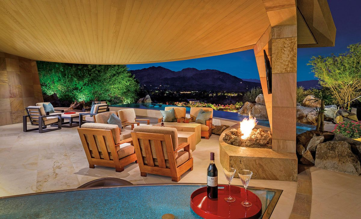Images via Bighorn Properties/Mark Davidson A post, six-bedroom home designed for late movie mogul and entertainment legend Jerry Weintraub just hit the market in Palm Desert, California, on Friday, and...