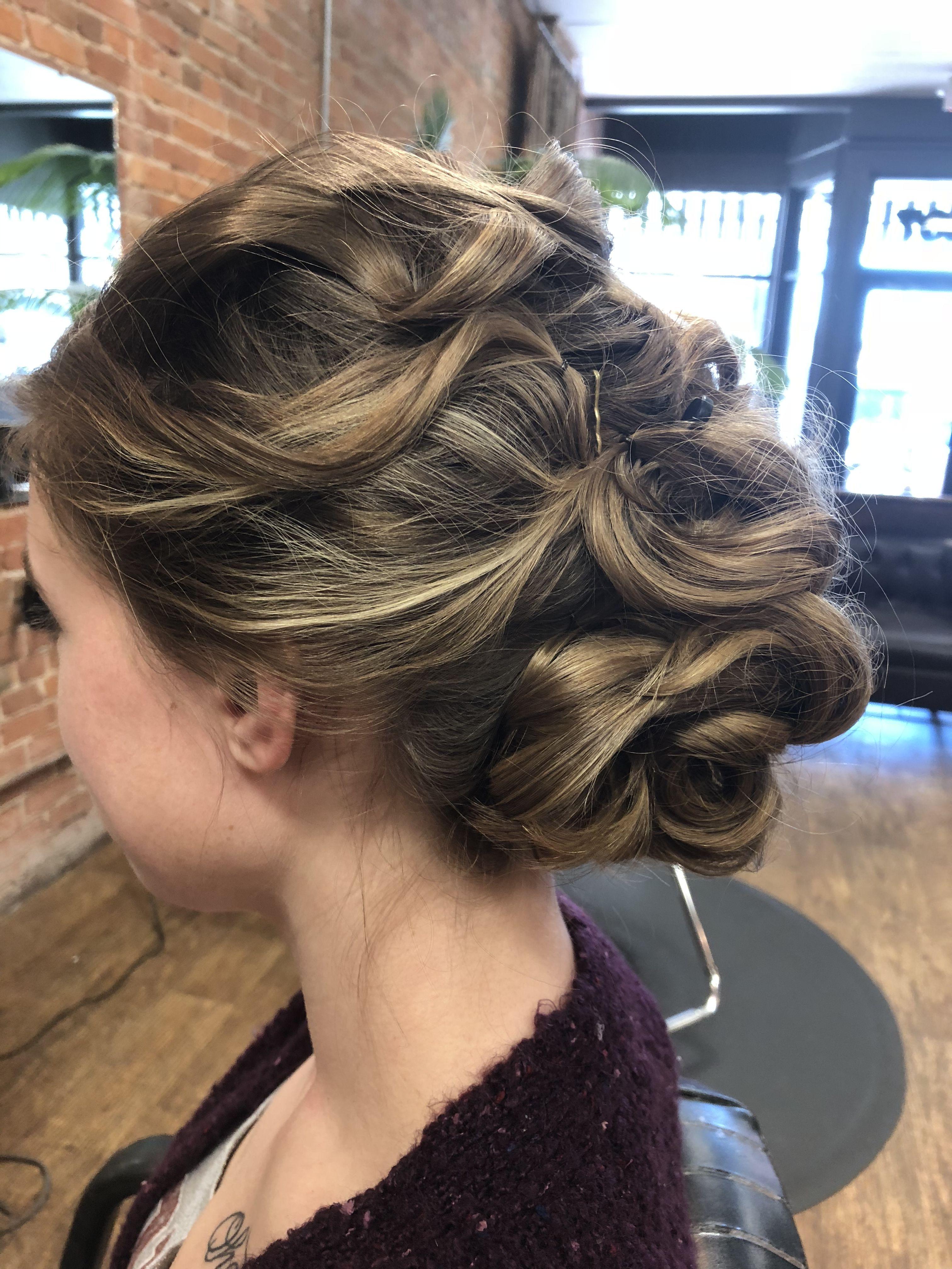 Curly bun hair for prom | Bun hairstyles, Curly bun, Prom hair