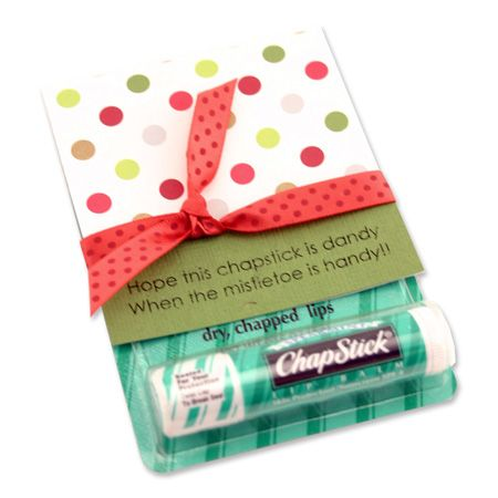 Hope this chapstick is dandy when the mistletoe is handy!