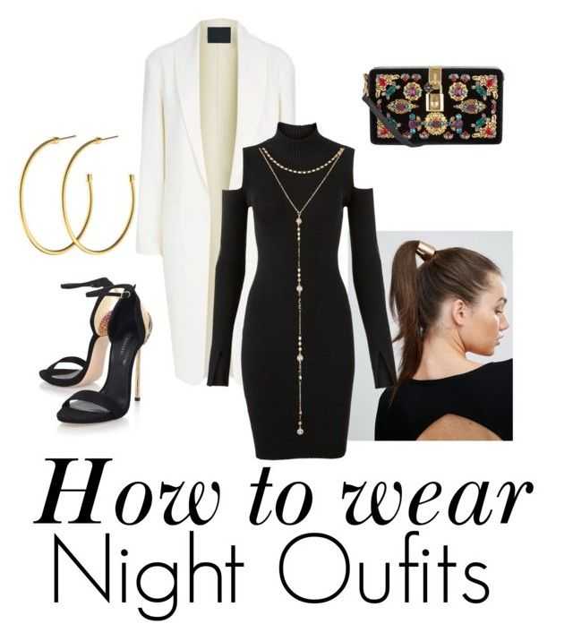 """Night Oufits"" by leazyns ❤ liked on Polyvore featuring Casadei, Alexander Wang, Johnny Loves Rosie, Versus, Dolce&Gabbana, Dyrberg/Kern and Fragments"