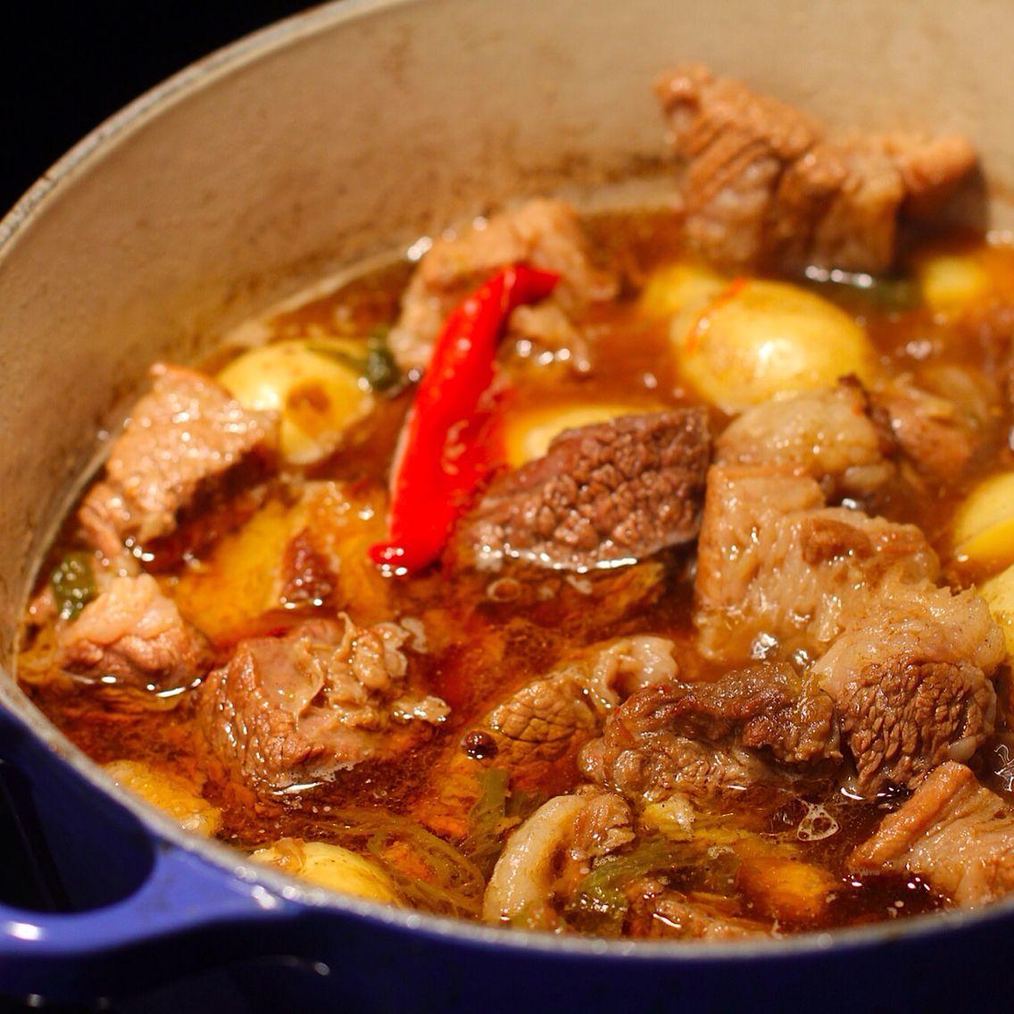 Beef ribs stew with mini potatoes beef ribs and potatoes