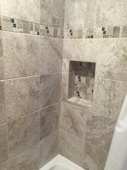 Marazzi travisano trevi and bernini 3 in x 12 in glass for Fancy bathroom wall tiles