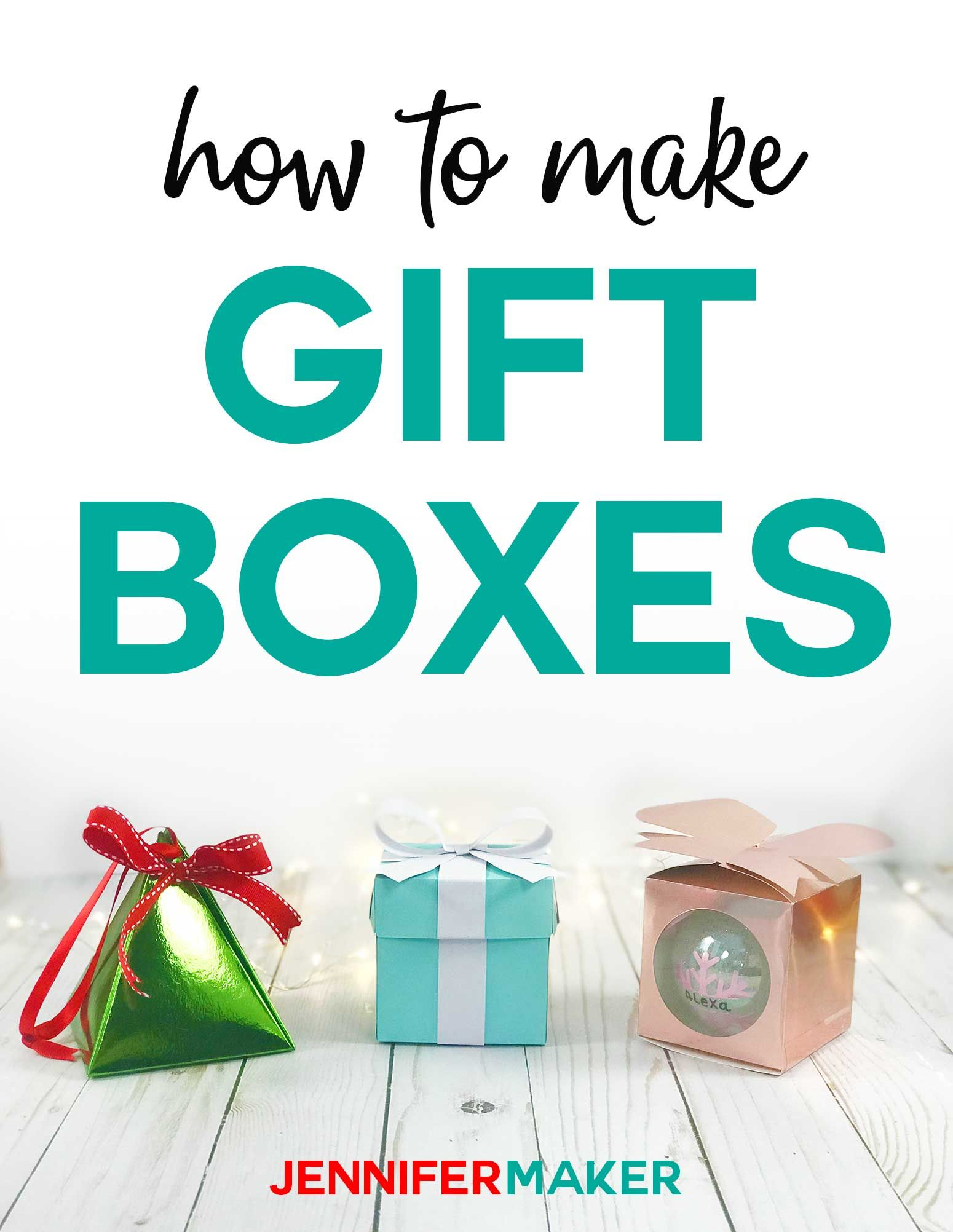 Gift Box Templates Perfect for Handmade, Small Gifts and