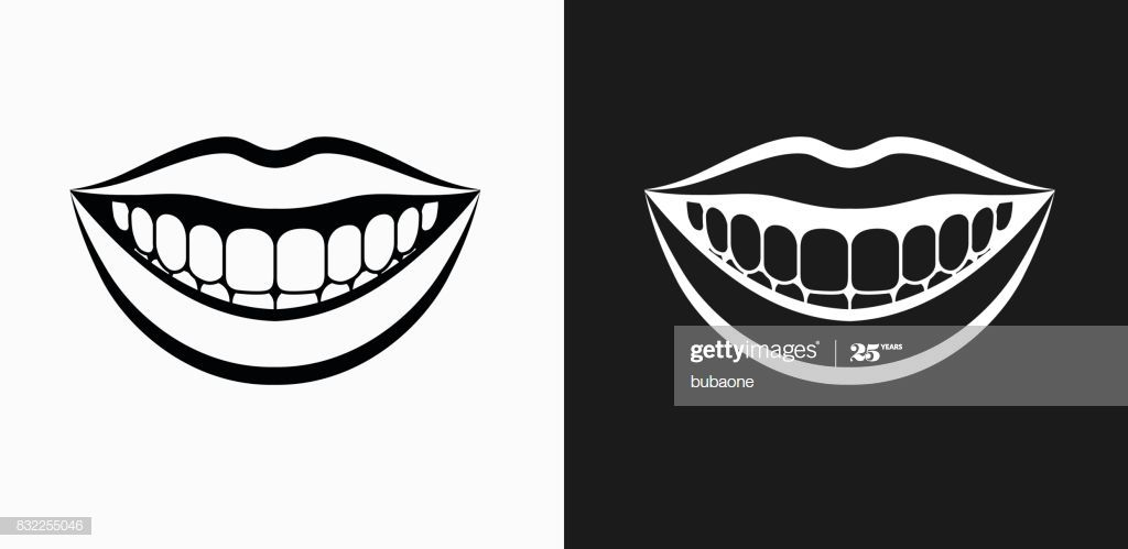Smiling Mouth Icon On Black And White Vector Backgrounds This Vector Black And White Google Clipart Black And White Vector Background