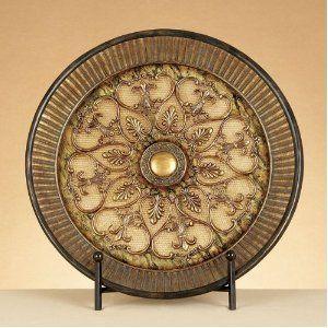 Amazon.com: Classial Fleur De Lis Decorative Polystone Plate with Metal Stand: Home & Kitchen