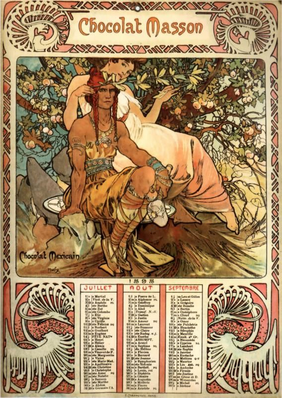 Chocolat Masson Artist Alphonse Mucha Completion Date 1897 Style