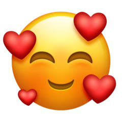 Smiling Face With 3 Hearts On Emojipedia 111 Emojis Pinterest