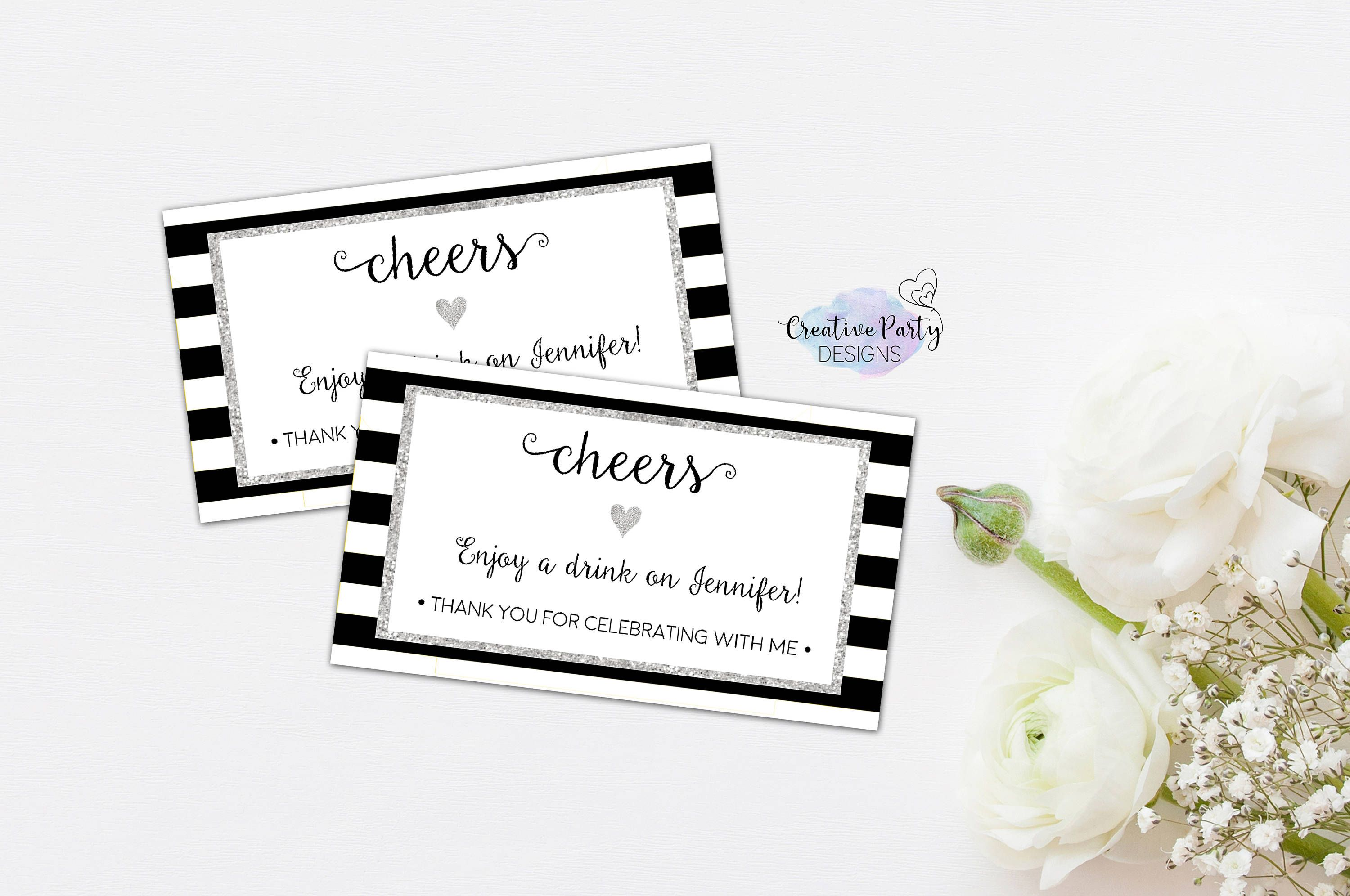 Drink Tickets Wedding Drink Tickets Drink Tokens Drink Voucher Free Drink Ticket Complimentary Drink Ticket Party Printable By Cre Geburtstag Geburt