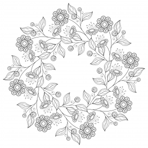 flowers advanced coloring pages 20 - Printable Advanced Coloring Pages