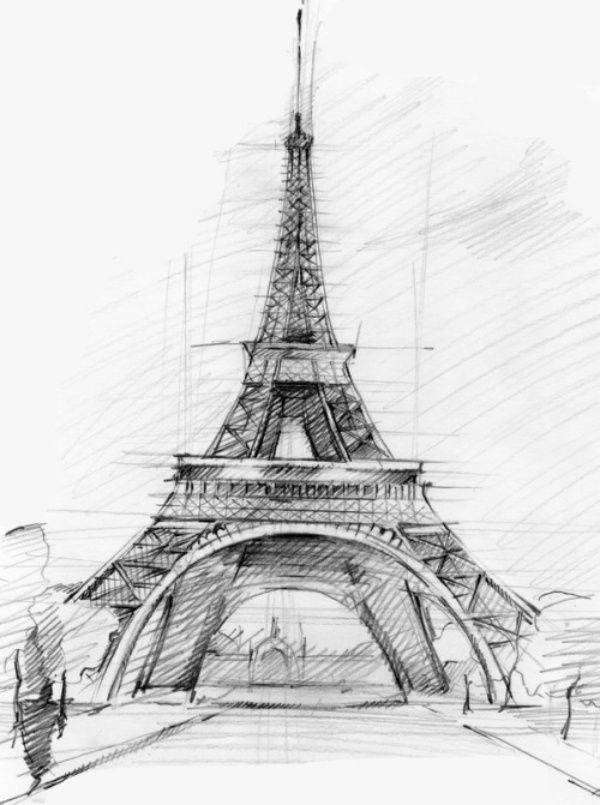 Easy And Beautiful Eiffel Tower Drawing And Sketches Draws