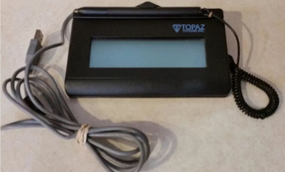 Topaz T-L462-HSB-R SIGNATUREGEM LCD 1X5 USB Signature Capture Pad