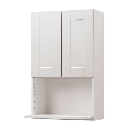 AKURUM Wall cabinet for microwave oven IKEA Sturdy frame construction,  thick.
