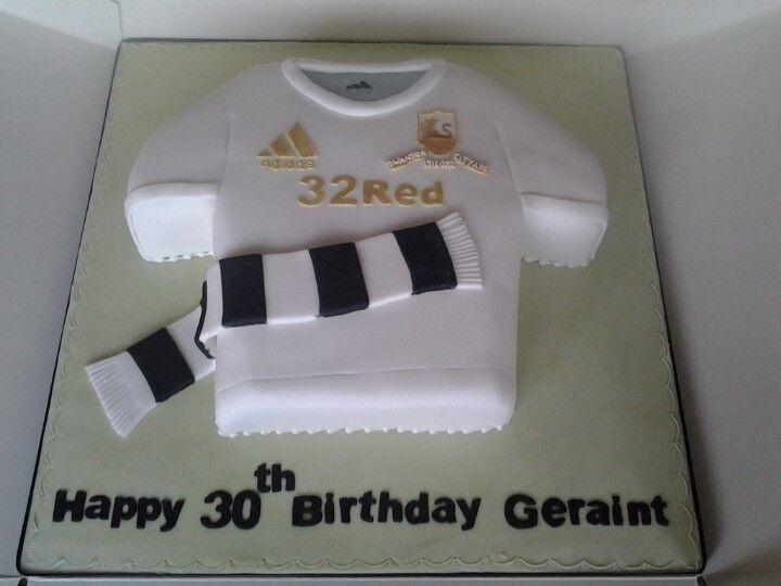 Swansea city shirt birthday cake