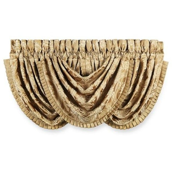 J Queen New York Gold Napoleon Waterfall Valance EUR44 Liked On Polyvore Featuring Home Decor Window Treatments Curtains