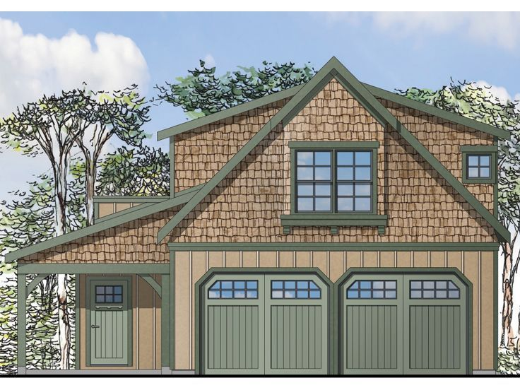 Carriage house plans craftsman style garage apartment for Carriage garage plans