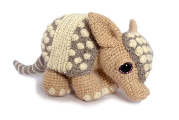 Easy Amigurumi Pdf : Armadillo amigurumi crochet pattern pdf instant download
