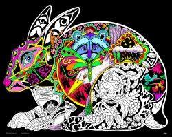 Hare - 16x20 Fuzzy Velvet Coloring Poster Inner Nature ...