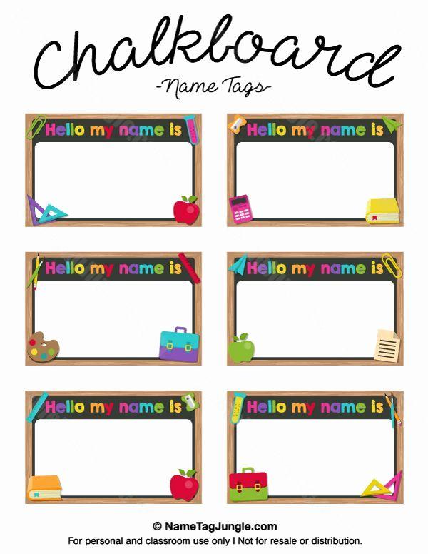 Name Tag Template Free Printable Elegant The 25 Best Printable Name Tags Ideas On Pinterest Diy Name Tags Kindergarten Name Tags Name Tag Templates