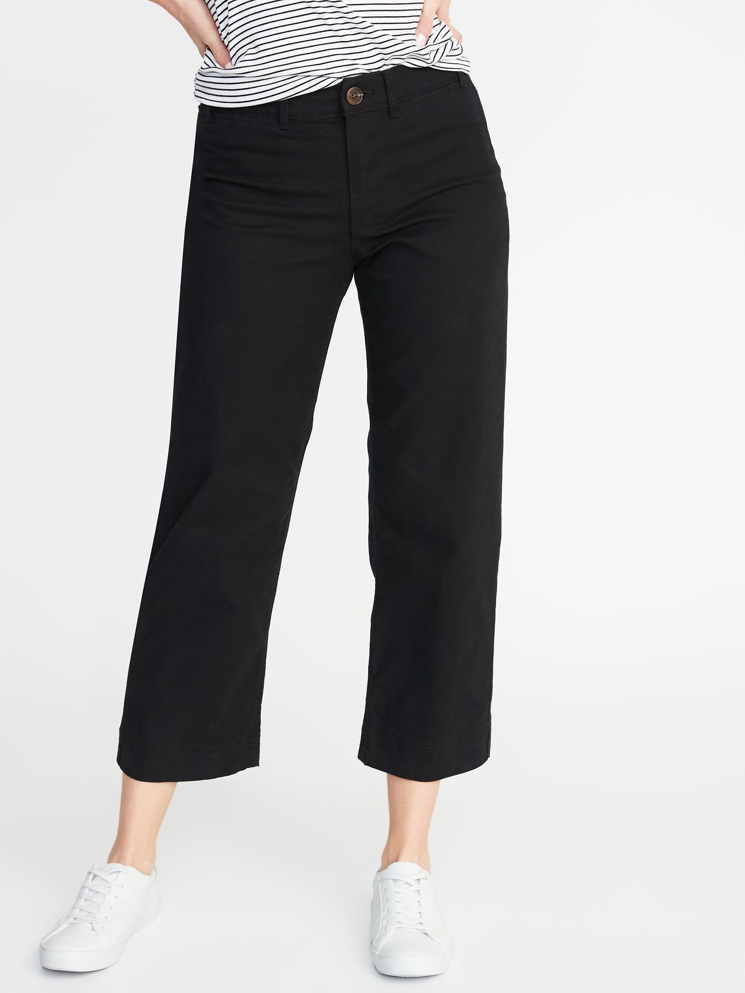 e33b9f7096 Mid-Rise Slim Wide-Leg Chinos for Women in 2019 | style + ease ...