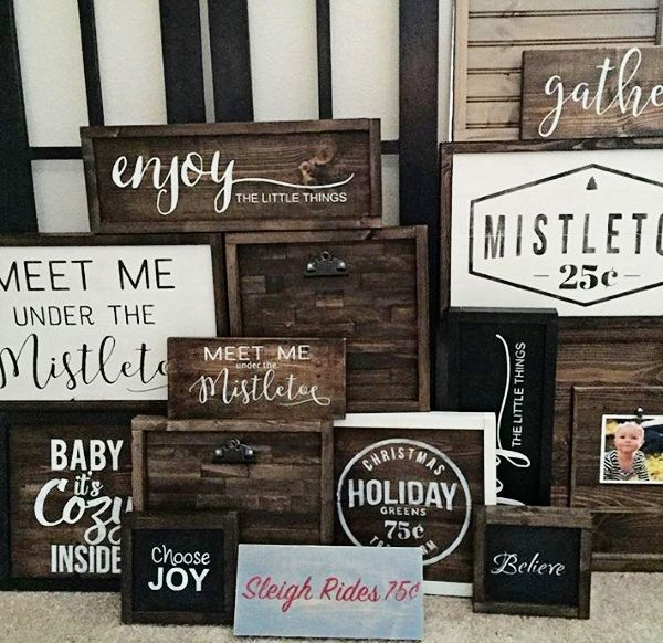 15 Easy DIY Christmas Signs for a Festive Front Po