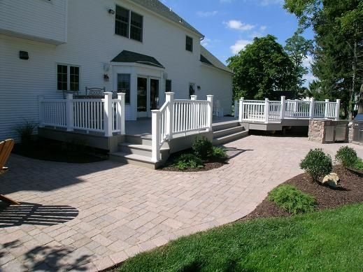 Decks And Brick Walkways | Brick Patio Off Deck | Patio And Walkway Ideas