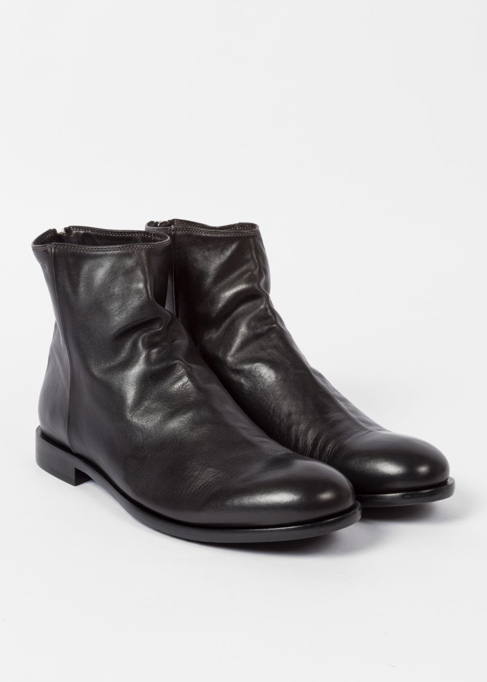 7105e05b7 Men's Dip-Dyed Black Calf Leather 'Jean' Boots | RB.Casual | Leather ...