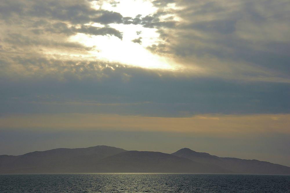Sunburst over the east of Islay
