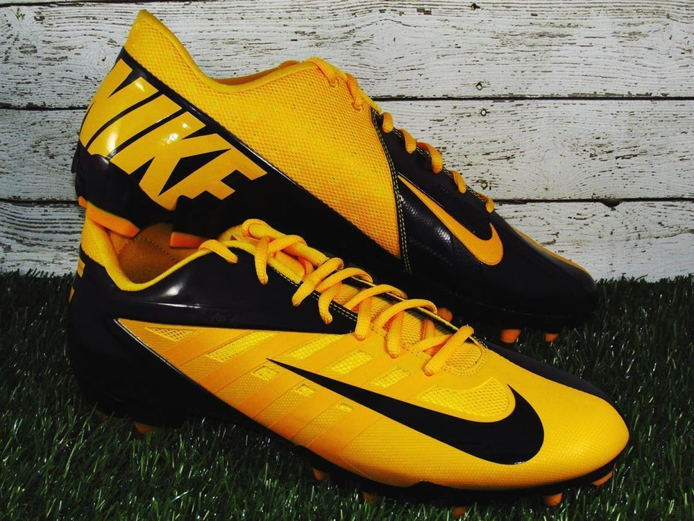 Nike Vapor Pro TD Low Football Cleats Mens Size 13 Black/Gold ...