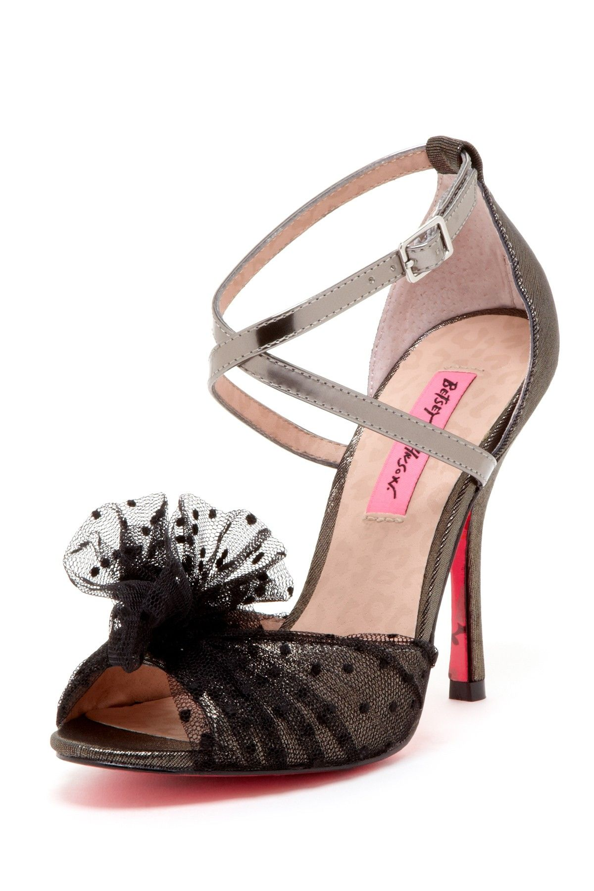 Betsey johnson beacon high heel sandal bow sandals shoe