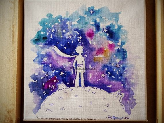 NEW Le Petit Prince-The Little Prince quote on by Yanartshop